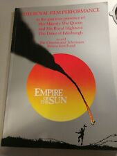 "Royal Film Performance Programme 1988 ""Empire Of The Sun"""
