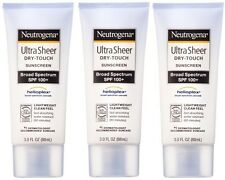 3pk Neutrogena Ultra Sheer Dry-Touch Sunscreen SPF 100+ US IMPORT!