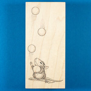 House Mouse Mudpie Juggles Rubber Stamp - Stampa Rosa - Juggler