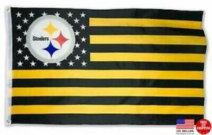Pittsburgh Steelers 3x5 Flag Man Cave 3 x 5 Banner American Football New USA