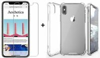 iPhone X / XS Clear Case and Tempered Glass Screen Protector Bundle