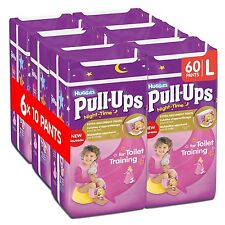 Huggies Pull-Ups Girls Night Time Pants Convenience Pack Large - 6 Packs (10 ...