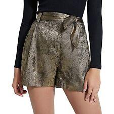 MSRP $79 GUESS Women's Topia Metallic Tie-Front Shorts Size Medium