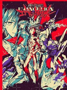 Neon Genesis Evangelion Poster Death & Rebirth Movie Film 1995 Anime Print