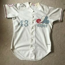 Game Worn Used Montreal Expos Jersey Jim Dwyer 1976 Olympic patch