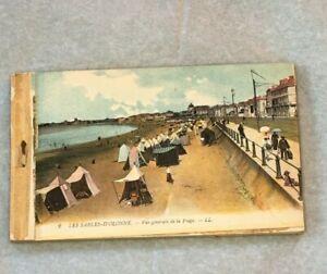 Antique French Postcards Les Sables-D'Olonne  1910s Tinted Postcards Not Written