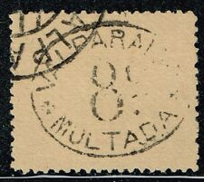 CHILE 1894 OFFICIAL POSTAGE DUE STAMP # 4 TYPE II USED MULTAS VALPARAISO