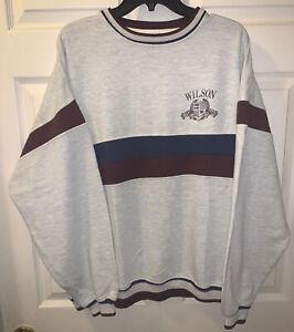 Vintage 1990s Wilson Tennis Sweatshirt Half Zip Sweater Size M