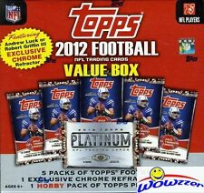 2012 Topps Football MEGA Box+Platinum HOBBY+CHROME REFRACTOR Luck/Griffin III RC