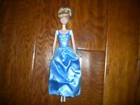 Mattel 2013 Disney Cinderella Princess Doll Blue Bodice & Skirt