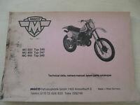 Maico MC 250 , MC 400, MC 440 Typ 346-348 Technical data Handbuch +Parts Catalog