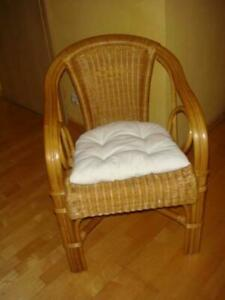 Rattan Armchair Korb-Sessel Club Lounge Cocktail Chair With Pads