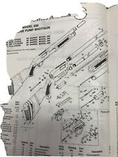 Exploded View High Standard Sporting Firearms Model 200 12Ga. Pump Action
