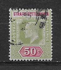 STRAITS SETTLEMENTS , MALAYA , 1902 , EDWARD VII ,  NO. 101 , 50c STAMP , USED