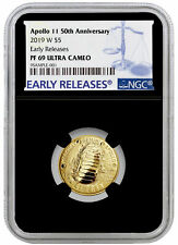 2019 W Apollo 11 50th Annv $5 Gold Commemorative NGC PF69 ER Black Core SKU57249