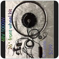 "Electric Bike48V 1000 W ,26"" Front Wheel Kit,Ebike Conversion Kits,new Ebike Kit"