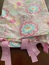 Pottery Barn Kids pink duvet blanket cover bed 60 x 84