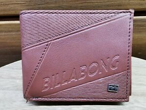 Men's Billabong brown faux Leather Flip Wallet - used good condition