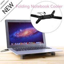 Plegable colorido Usb 2.0 Notebook Laptop 2 Ventiladores Cooler Cooling Pad 7 @