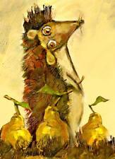 ACEO/RICCIO con pere/le stampa di dipinto originale di ljubov 'hahonina