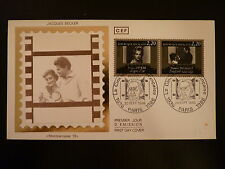 FRANCE PREMIER JOUR FDC YVERT 2441/42  JACQUES BECKER  2,20X2F  PARIS 1986