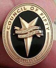 Council of Fifty Lapel Pin lds mormon
