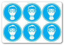 RESPIRATORS MUST BE WARN, health and safety signs/stickers, warning, first aid