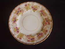CROWN CHINA -TEA/SIDE PLATE-EDNA -WILD BROS -HANDPAINTED -FLORAL/GILDING -c1904