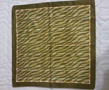 VINTAGE Foulard sciarpa bandana fazzoletto verde unisex green foulard scarf