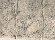 cartina alpina - aosta gran paradiso-1:25.000 - in tessuto telato -