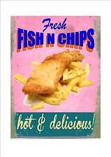 American style rétro diner signe fish & chips signe chip shop signe de fruits de mer signe