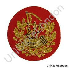 Badge Pipe Major Gold on Red R1431