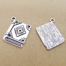 Jewelry Findings,Charms,Pendants,Tibetan Silver 4pcs Book