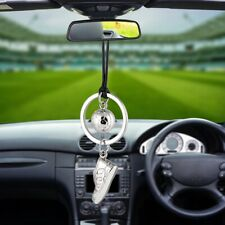 Shoe & Football Car Rearview Mirror Hanging Silver Pendant Decor Accessories