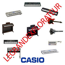 Ultimate CASIO Keyboard Piano Synthesizer Repair Service Manuals  120 manual DVD