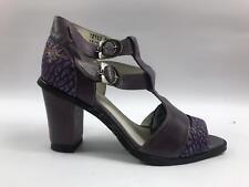 Eject Damen Schuhe Pumps Sandalette  Leder Lila Größe 38  Art.18.1165/R2A