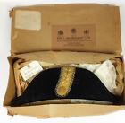 Ede & Ravenscroft- Antique Edwardian New Old Stock Naval Bicorn Hat- BNIB Boxed