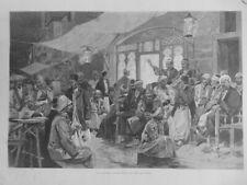 1896 I Kairo Ägypten Kaffee Geschichtenerzähler Arabisch Musiker Tacho Tracht