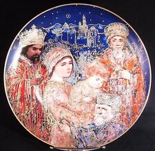 Edna Hibel Christmas Plate, 1986, The Gifts of the Maji, Edwin Knowles
