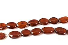 Main Shaped Hessonite Garnet Ovale Beads. January Birthstone. UK seller