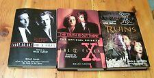 AF0752 LOT Vintage BOOKS BUNDLE OF THE X FILES Three Books, 1995 & 1996 hb pb