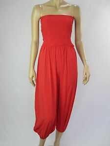 Crossroads Ladies Too Easy One Piece Jumpsuit sizes 8 10 12 14 20 22 Colour Red