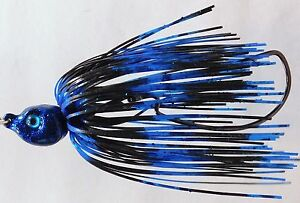 Bob4Bass Swinging Swim Jig Black Blue Stripes HN15005