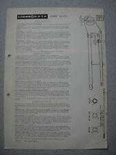 LOEWE OPTA Typ 42370 Lord Service Manual Ausgabe 1, Stand 01/63