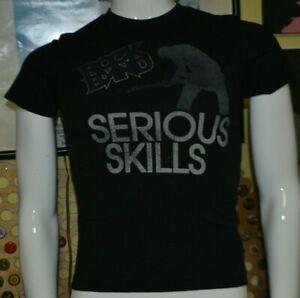 Rock Band Video Game Serious Skills T Shirt Youth Medium Old Navy Gamer Nice