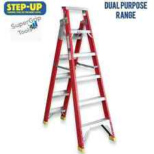 STEP UP 'ST11106' Dual-Purpose Fibreglass Ladder 2m - 3.8m 150kg