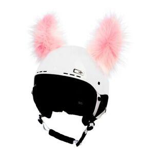 Helmohren für Skihelm Modell Yeti - wuschelige Ohren für Ski Helm Rosa Helmet