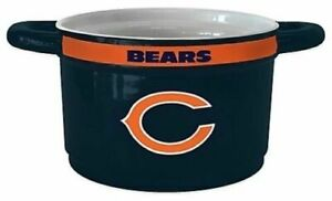 Set of 4 - Licensed NFL Chicago Bears Ceramic Game Time Chili Bowls