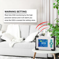 Carbon Dioxide Detector Alarms Co2 ppm Meters Temperature Tester for Classroom