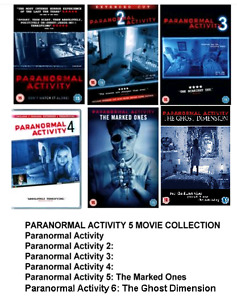 PARANORMAL ACTIVITY 1-6 COMPLETE DVD MOVIE COLLECTION Part 1 2 3 4 5 6 Film New